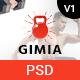 Gimia - Gym & Yoga Services PSD Template