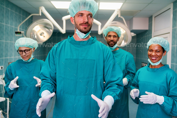 Doctors preparation for surgical operation in hospital. Healthcare medicine concept - Stock Photo - Images