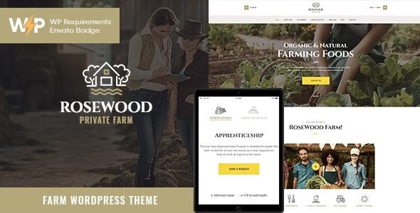 Rosewood | Eco Organic Farming Agricultural WordPress Theme