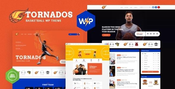 Fabulous Tornados | Basketball NBA Team WordPress Theme