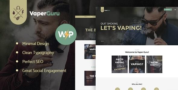 VaperGuru - Vapers Community & Cigarette Store WordPress Theme