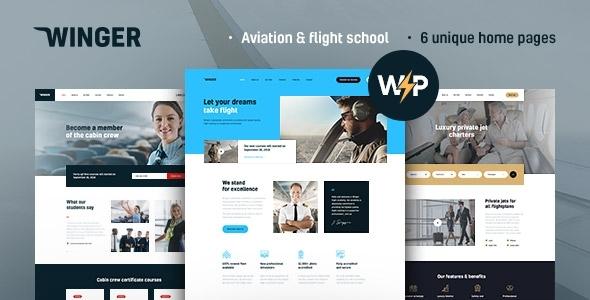 Winger - Aviation & Flight School WordPress Theme