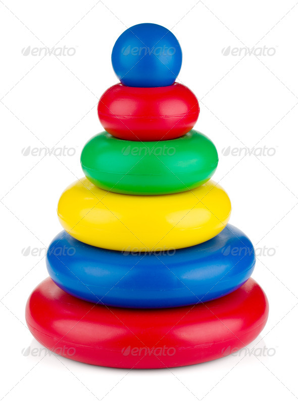 Pyramid toy - Stock Photo - Images