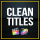 Clean Titles for FCPX - VideoHive Item for Sale