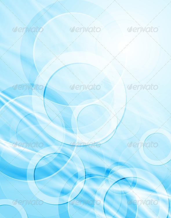 Abstract blue hi-tech design - Abstract Conceptual