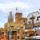 Colorful old houses in Girona, Catalonia, Spain - PhotoDune Item for Sale
