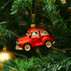 Red car toy, cone and ball on Christmas tree - PhotoDune Item for Sale
