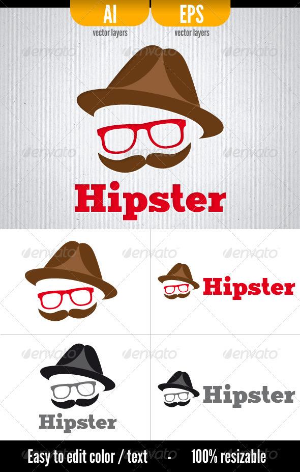 Hipster - Logo Template - Humans Logo Templates