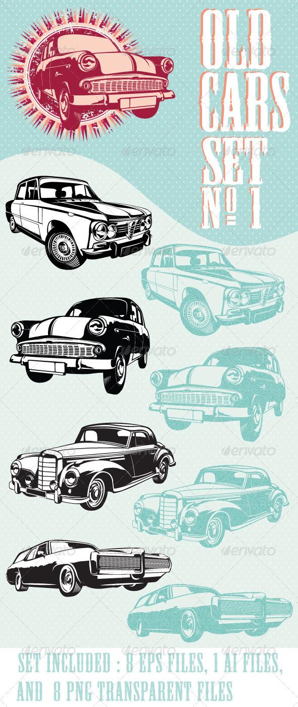 Old cars set NO.1 - Vectors