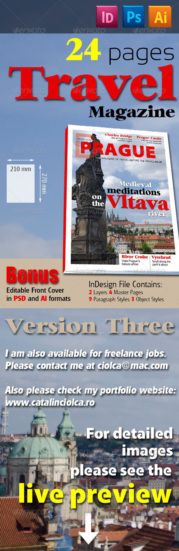 24 Pages Travel Magazine Version Three - Magazines Print Templates