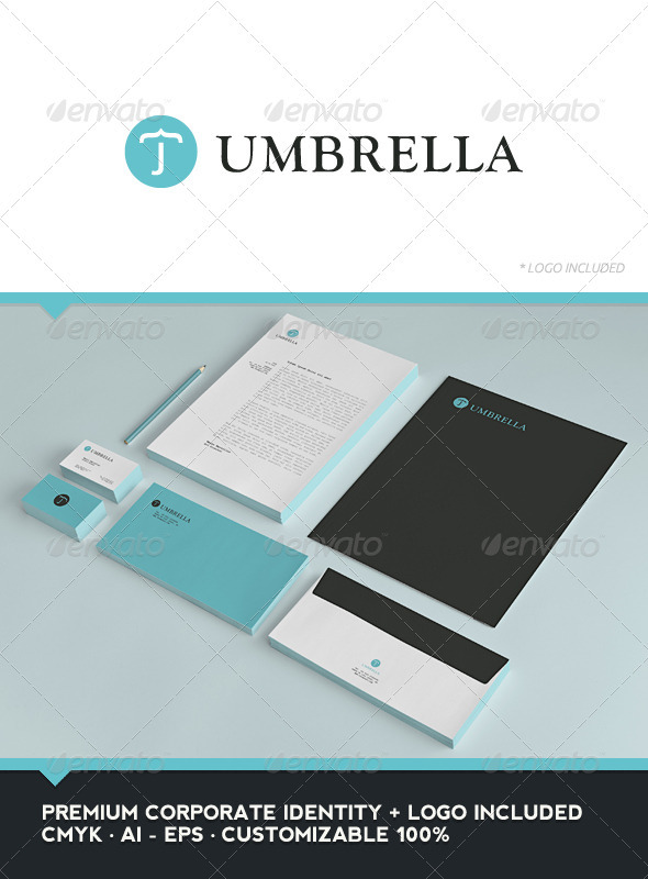 Umbrella Corporate Identity - Stationery Print Templates
