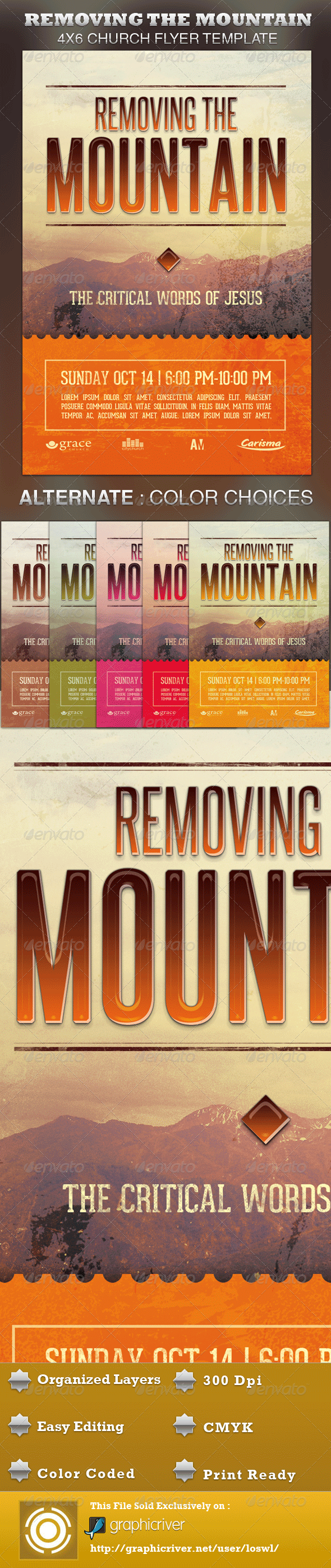 Removing the Mountain Church Flyer Template - Church Flyers