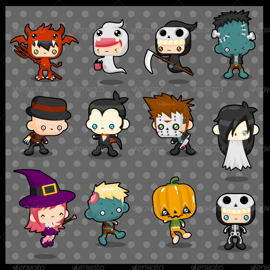 kawaii costume pack  halloween by pzuh