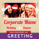 3-Fold Holiday Greeting Card - GraphicRiver Item for Sale