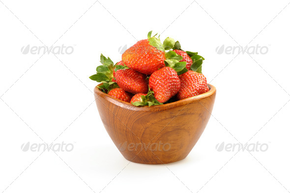 Bowl of Strawberries - Stock Photo - Images
