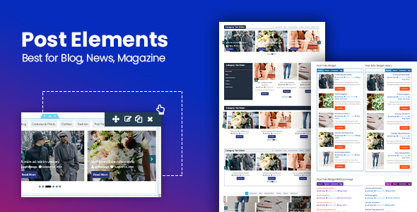 Download Post Elements – Elementor Addon for Blog, Newspaper, Magazine WordPress Plugin Free Nulled