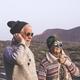 Happy senior retired couple in warm clothing enjoying hiking tour. Active elderly couple - PhotoDune Item for Sale