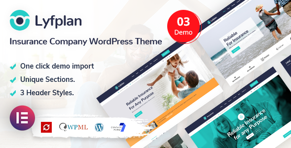 Lyfplan - Insurance WordPress Theme