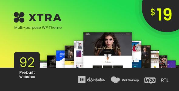 XTRA - Multipurpose WordPress Theme + RTL Nulled