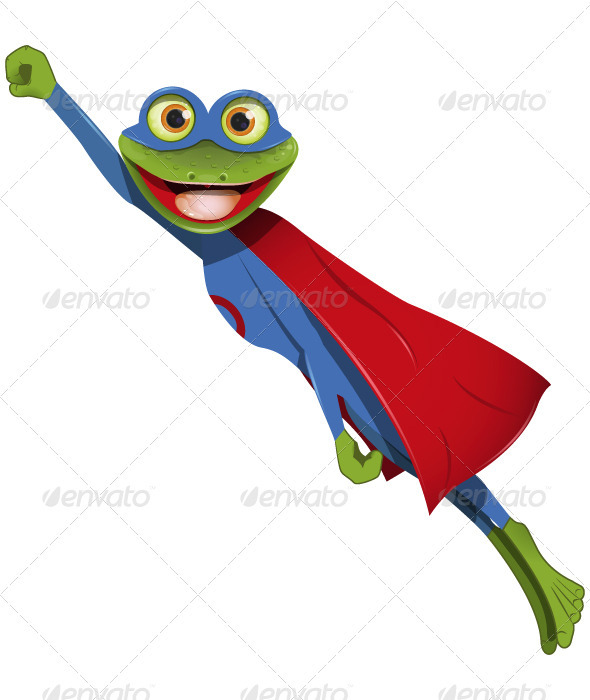 Frog superman - Animals Characters