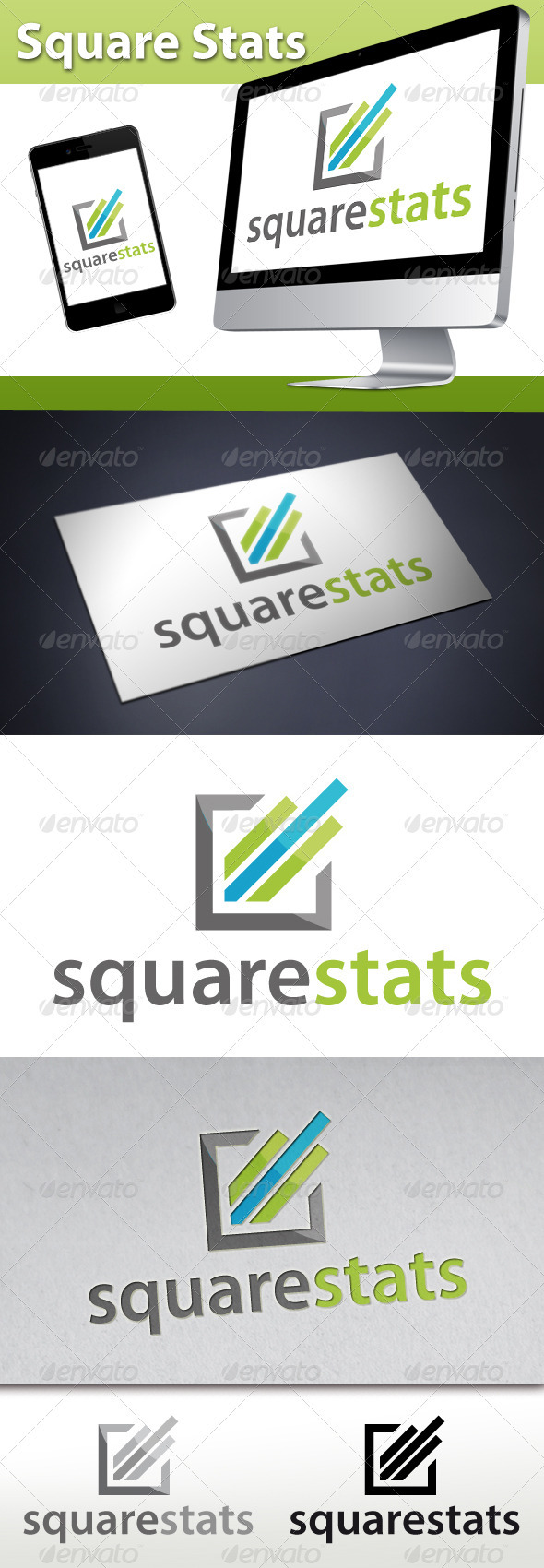 Marketing Square Stats Logo - Symbols Logo Templates