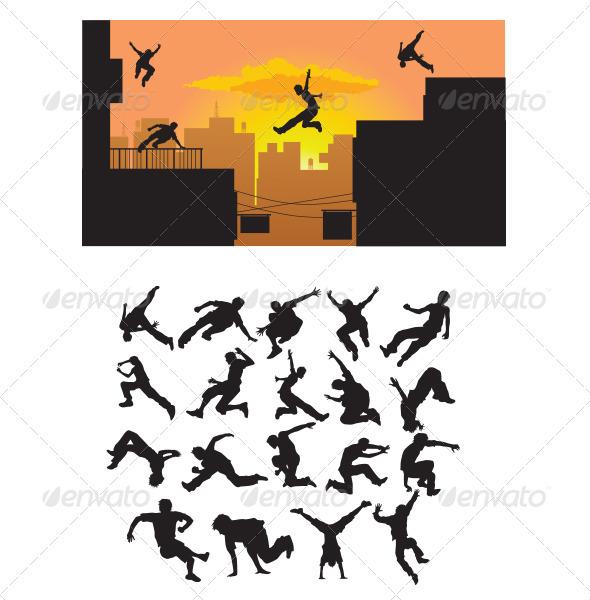 Parkour Silhouette - Sports/Activity Conceptual
