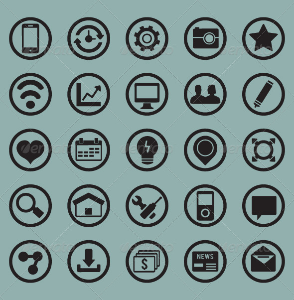 Set of icons For Web and Design Elements  - Technology Conceptual