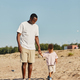 Father and Son on Beach - PhotoDune Item for Sale