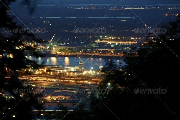 Industrial Zone Portland - Stock Photo - Images