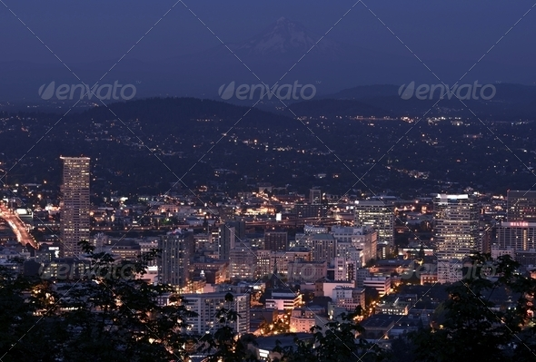 Portland Overlook - Stock Photo - Images