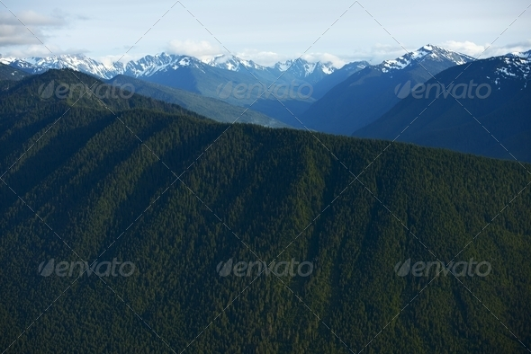 Olympic Mountains - Stock Photo - Images