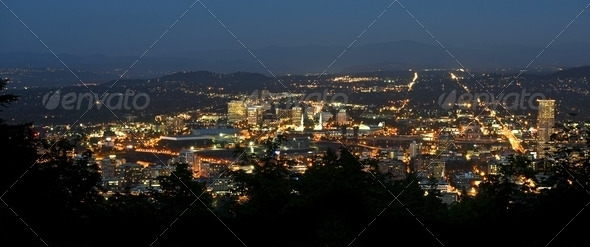 Portland Panoramic - Stock Photo - Images