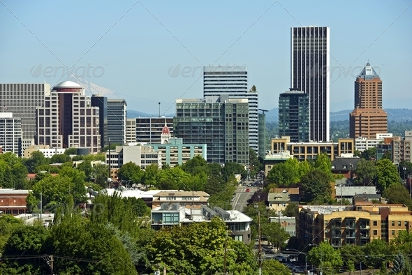 Downtown Portland - Stock Photo - Images