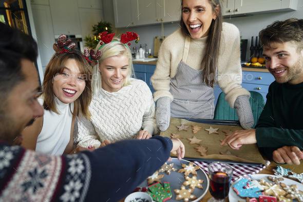 Best friends spending Christmas time - Stock Photo - Images