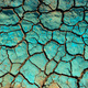Blue chemical liquid dried over dry cracked land - PhotoDune Item for Sale