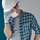 Worried construction engineer with protective face mask - PhotoDune Item for Sale