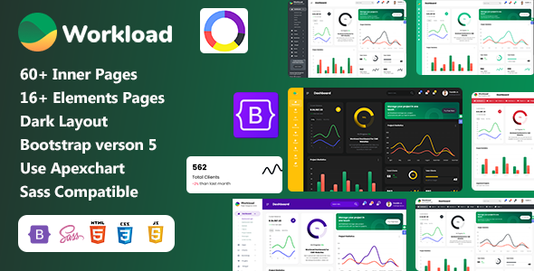 Workload   Project Management Bootstrap 5 Admin Dashboard