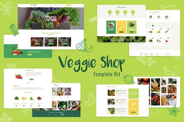 Veggie | Organic Food & Eco Online Store Products Template Kit