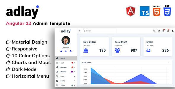 Adlay - Angular 12 Material Admin Template