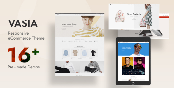 Vasia - Multipurpose OpenCart Theme (Included Color Swatches)