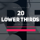 Modern Minimal Lower Thirds - VideoHive Item for Sale