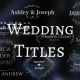 Wedding/Romantic Titles - VideoHive Item for Sale