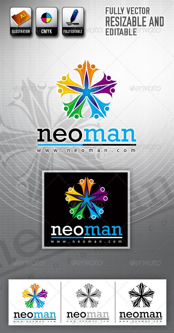 People Color Logo Templates - Symbols Logo Templates