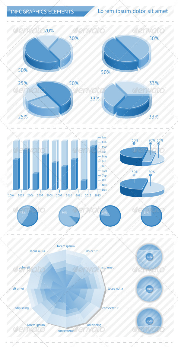 Infographics elements with schedules - Infographics
