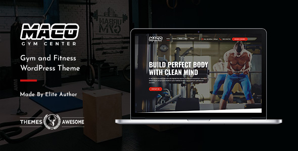 Excellent Maco | Gym and Fitness WordPress Theme