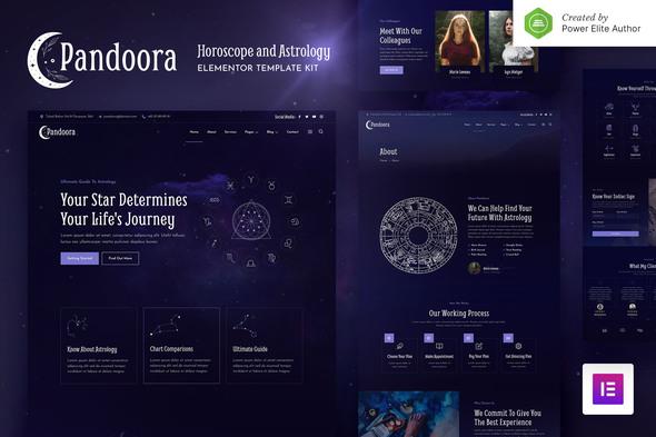 Pandoora – Horoscope & Astrology Elementor Template Kit