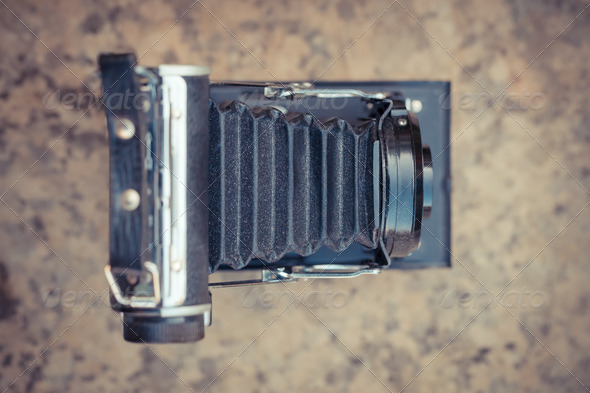 Old vintage camera - Stock Photo - Images
