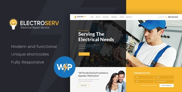 ElectroServ | Electrical Repair Service WordPress Theme