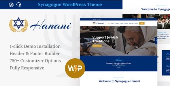 Excellent Hanani | Jewish Community & Synagogue WordPress Theme + RTL