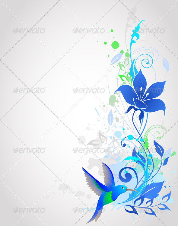 Blue Vector  Background - Backgrounds Decorative